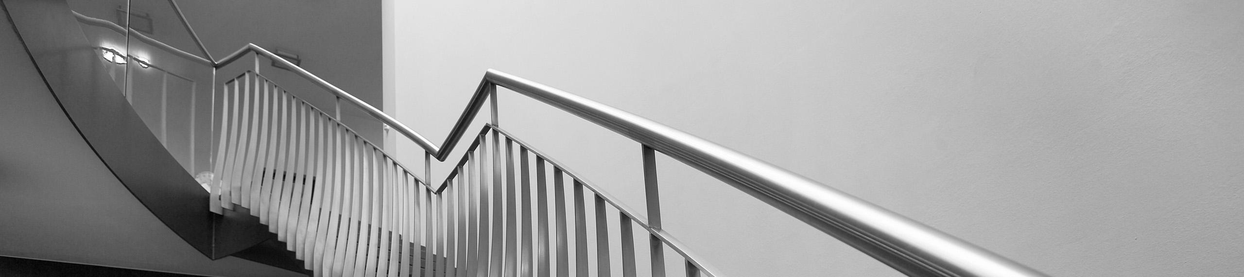 Geländer, Treppen, Nurglaskonstruktionen
